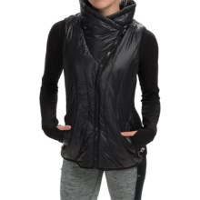 Steve Madden Crossover Collar Vest (For Women) in Black - Closeouts