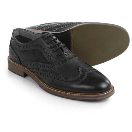Steve Madden Daxx Wingtip Oxford Shoes - Leather (For Men) in Black - Closeouts