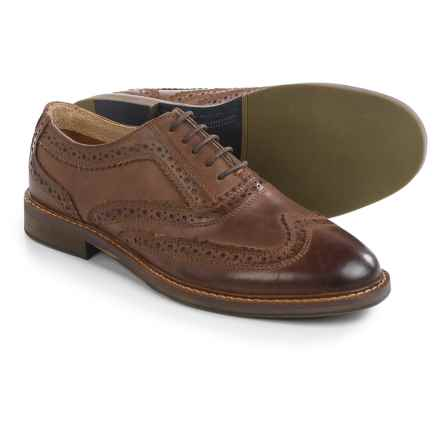 Steve Madden Daxx Wingtip Oxford Shoes - Leather (For Men) in Cognac - Closeouts