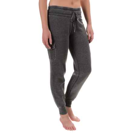 Steve Madden Distressed-Fleece Cargo Joggers (For Women) in Black Tea - Closeouts