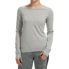Steve Madden Double Cutout T-Shirt - Long Sleeve (For Women) in Grey Heather - Closeouts