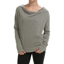 Steve Madden Draped-Neck Keyhole Sweatshirt (For Women) in Jetty Grey - Closeouts