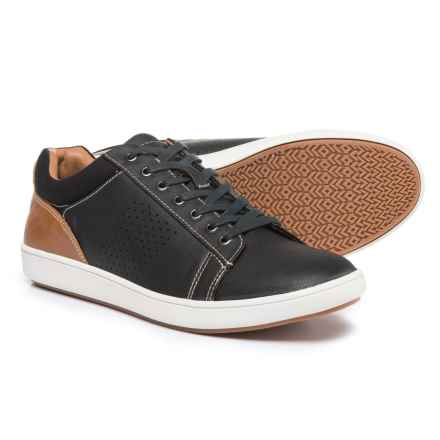 Steve Madden Fisk Sneakers - Vegan Leather (For Men) in Black - Closeouts