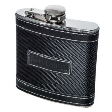 Steve Madden Flask and Funnel Set - 6 fl.oz., 2-Piece in Black - Closeouts