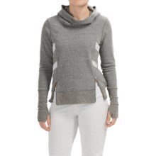 Steve Madden Funnel Neck Hoodie (For Women) in Grey Heather - Closeouts