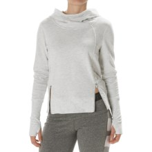 Steve Madden Funnel Neck Hoodie (For Women) in White Heather - Closeouts