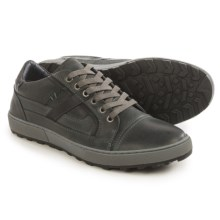 Steve Madden Hancock Sneakers - Leather (For Men) in Dark Grey - Closeouts