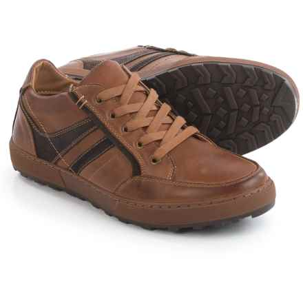 Steve Madden Hansom Sneakers - Leather (For Men) in Dark Tan - Closeouts