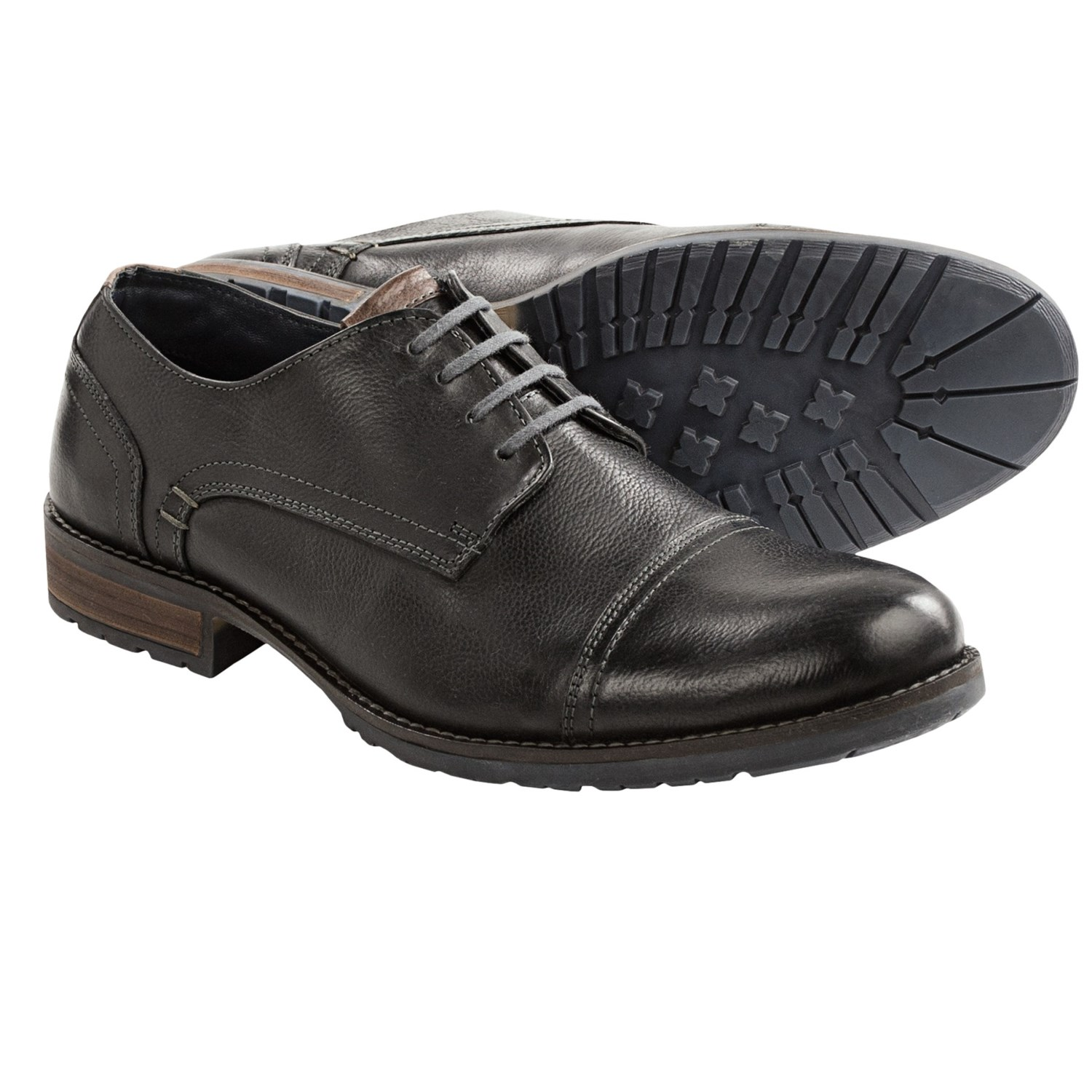 steve madden hanssel oxford shoes leather for in black