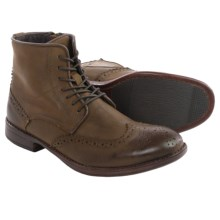 Steve Madden Lanter Boots - Leather, Wingtip (For Men) in Brown - Closeouts