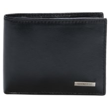 Steve Madden Leather Billfold Wallet and Key Fob Set in Black - Closeouts