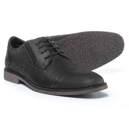 Steve Madden Lessim Cap-Toe Shoes - Leather (For Men) in Dark Grey - Closeouts