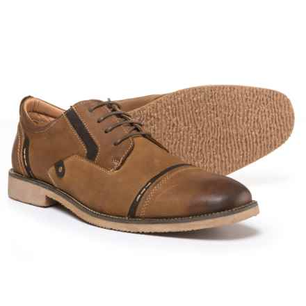 Steve Madden Lessim Cap-Toe Shoes - Leather (For Men) in Dark Tan - Closeouts