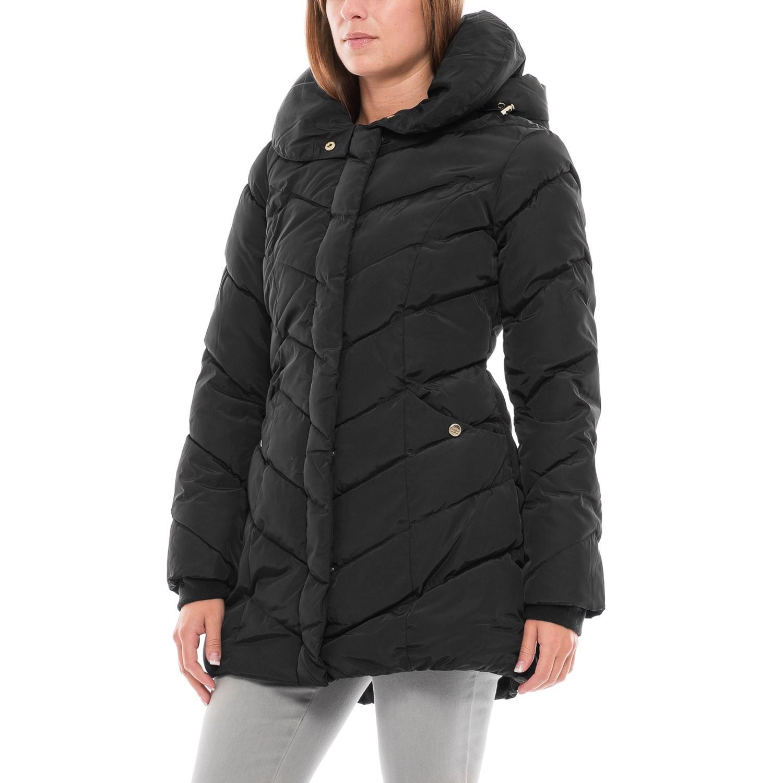 Steve Madden Long Hooded Bubble Coat (For Women) - Save 58%