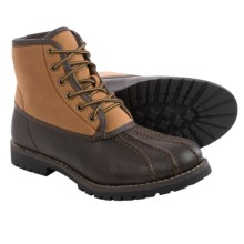 Steve Madden M-Cornel Lace Boots - Faux-Shearling Lining (For Men) in Brown/Tan - Closeouts