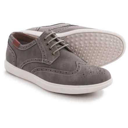 Steve Madden M-Ranney Wingtip Sneakers (For Men) in Grey Nubuck - Closeouts