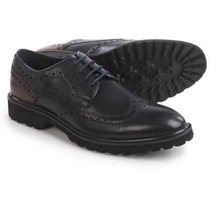 Steve Madden Marlen Wingtip Oxford Shoes - Leather (For Men) in Navy - Closeouts
