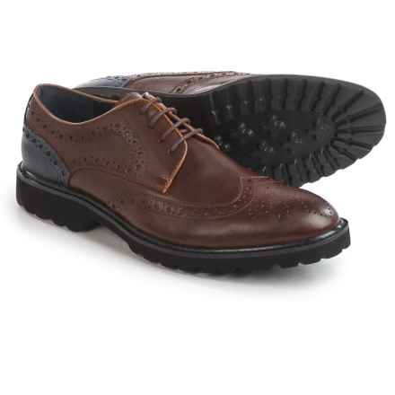 Steve Madden Marlen Wingtip Oxford Shoes - Leather (For Men) in Tan - Closeouts