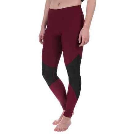 Steve Madden Mesh-Inset Leggings (For Women) in Elderberry - Closeouts
