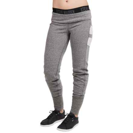 Steve Madden Mesh Panel Jogger Pants (For Women) in Grey Heather - Closeouts