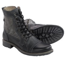 Steve Madden Meyham Boots - Leather (For Men) in Black - Closeouts