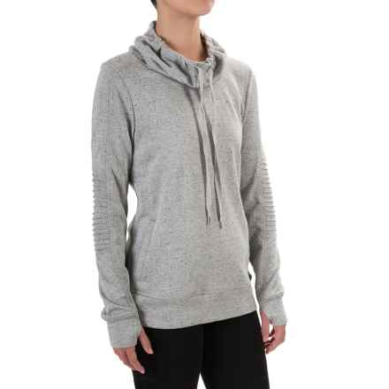Steve Madden Moto French Terry Sweatshirt (For Women) in Cloud Cover - Closeouts