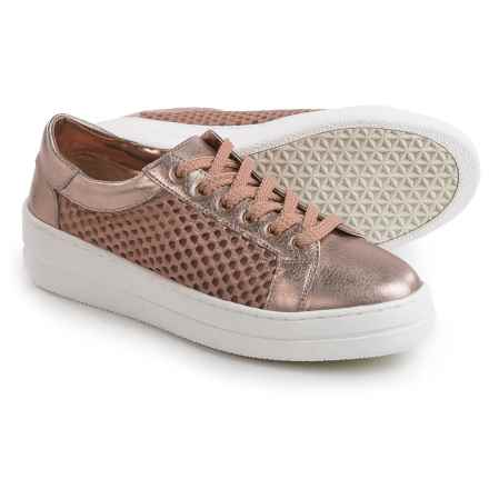 Steve Madden Neon Mesh Metallic Sneakers (For Women) in Rose Gold - Closeouts