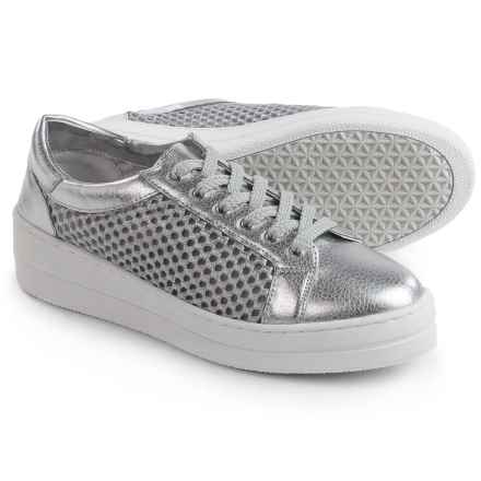Steve Madden Neon Mesh Metallic Sneakers (For Women) in Silver - Closeouts