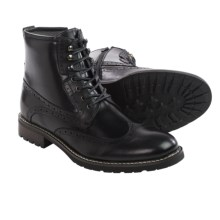 Steve Madden Obstrukt Boots - Leather, Wingtip (For Men) in Black - Closeouts