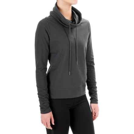 Steve Madden Open-Back Shirt - Funnel Neck, Long Sleeve (For Women) in Black Tea - Closeouts