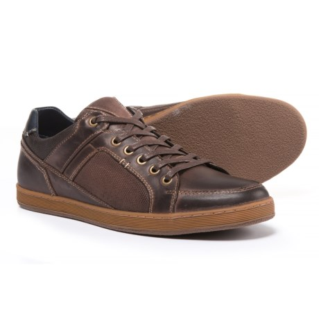 Steve Madden Palis Sneakers - Leather (For Men) in Dark Brown