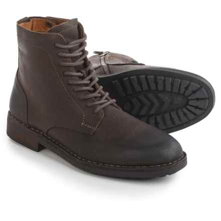 Steve Madden Petyr Boots - Leather, Lace-Ups (For Men) in Brown - Closeouts