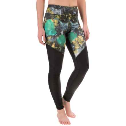 Steve Madden Printed Leggings - Mesh Panels (For Women) in Fearless Celestial - Closeouts