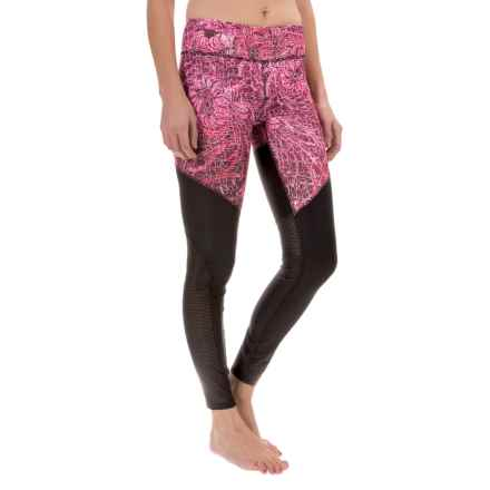 Steve Madden Printed Leggings - Mesh Panels (For Women) in Fractical Orchid - Closeouts