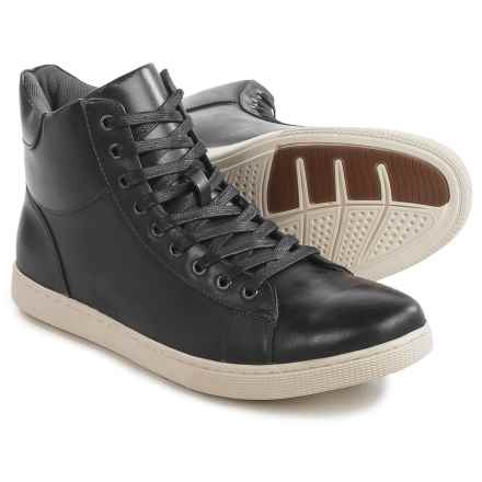 Steve Madden Revolv High-Top Sneakers - Leather (For Men) in Black - Closeouts
