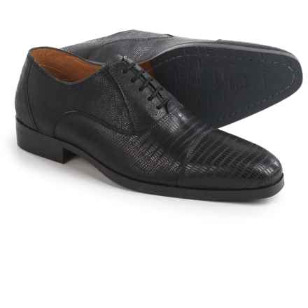 Steve Madden Rizzard Cap-Toe Oxford Shoes - Leather (For Men) in Black - Closeouts