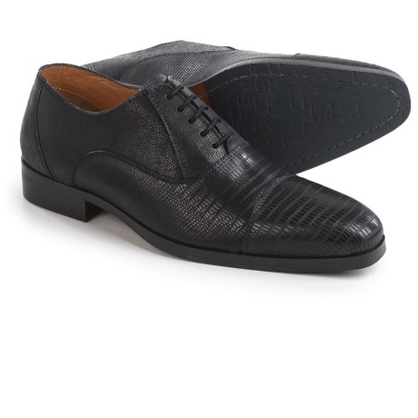Steve Madden Rizzard Cap-Toe Oxford Shoes - Leather (For Men) in Black