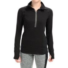 Steve Madden Running Shirt - Zip Neck, Long Sleeve (For Women) in Black - Closeouts