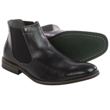 Steve Madden Ryott Chelsea Boots - Leather (For Men) in Black - Closeouts