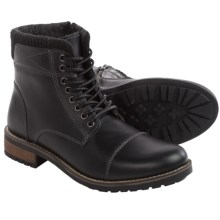 Steve Madden Shredder Boots - Leather, Cap Toe (For Men) in Black - Closeouts