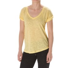 Steve Madden Slub-Knit Shirt - Relaxed Fit (For Women) in Lemonade - Closeouts