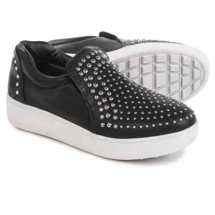 Steve Madden Smash Studded Sneakers - Vegan Leather (For Women) in Black - Closeouts