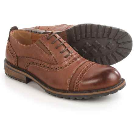 Steve Madden Spanner Brogue Oxford Shoes - Leather (For Men) in Tan - Closeouts