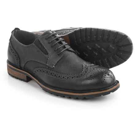 Steve Madden Sparx Wingtip Oxford Shoes - Leather (For Men) in Black - Closeouts
