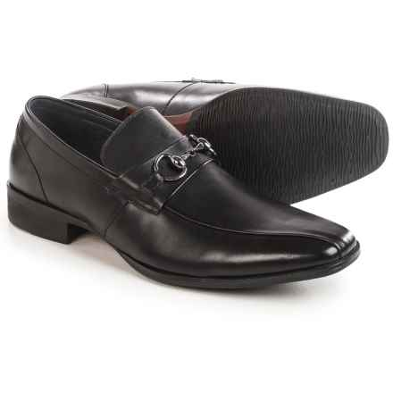 Steve Madden Stylls Bit Loafers - Leather, Slip-Ons (For Men) in Black - Closeouts