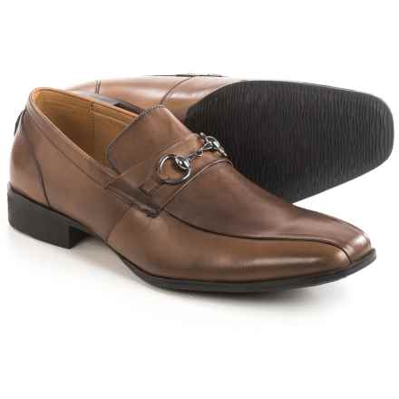Steve Madden Stylls Bit Loafers - Leather, Slip-Ons (For Men) in Tan - Closeouts