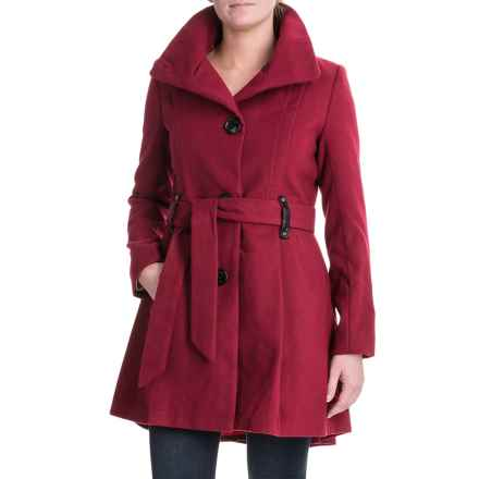 Steve Madden Sweater Wrap Coat (For Women) in Ruby - Closeouts