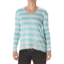Steve Madden Twisted Open-Back Shirt - Long Sleeve (For Women) in Aqua - Closeouts