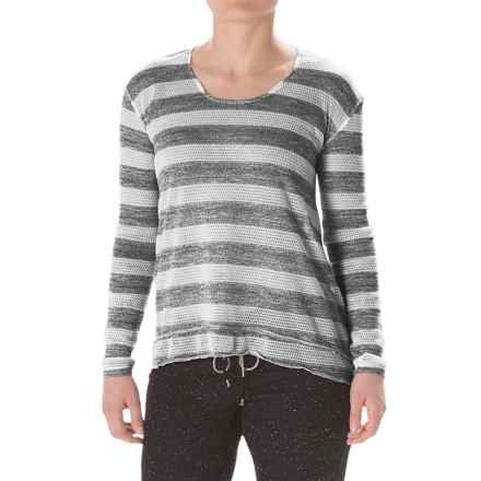 Steve Madden Twisted Open-Back Shirt - Long Sleeve (For Women) in Black - Closeouts