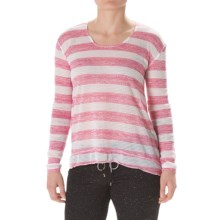 Steve Madden Twisted Open-Back Shirt - Long Sleeve (For Women) in Shocking Pink - Closeouts